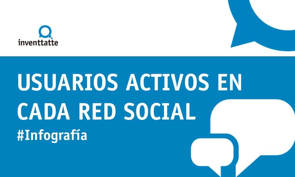 Infografía: Usuarios activos en cada red social