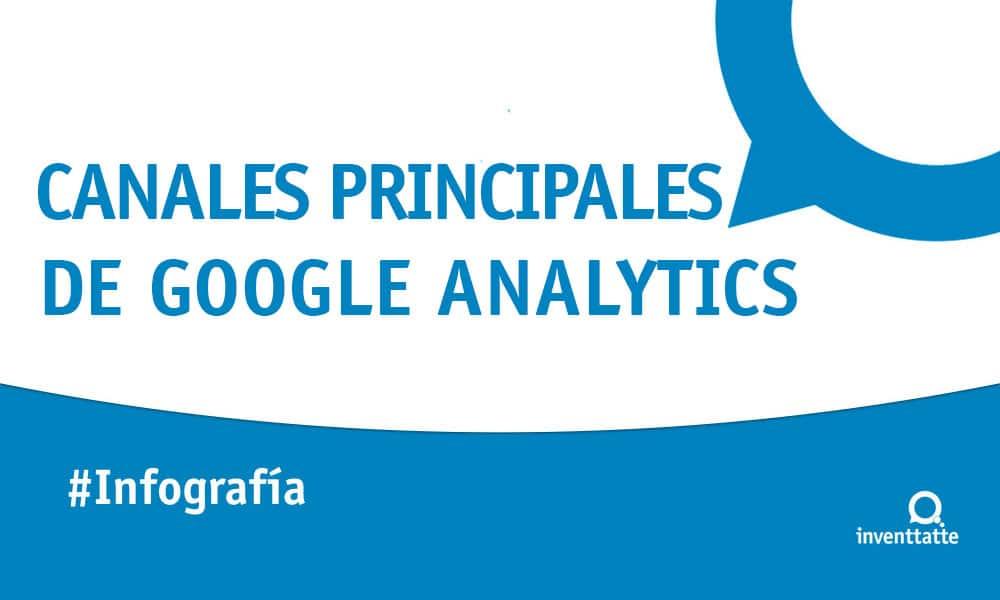 Infografía: Canales principales de Google Analytics